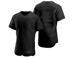 Mens Mlb New York Yankees #42 Mariano Rivera Black Mvp Flex Base Nike Jersey