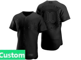 Mens Mlb New York Yankees Black Custom Made Mvp Flex Base Nike Jersey