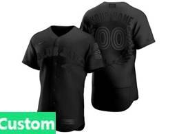 Mens Mlb Toronto Blue Jays Black Custom Made Mvp Flex Base Nike Jersey