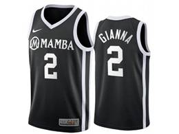 Mens Ncaa Nba Uconn Huskies #2 Gianna Black Nike Swingman Jersey