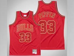 Mens Nba Chicago Bulls #33 Scottie Pippen Red 1997-98 Mitchell&ness Hardwood Classics Mesh Jersey