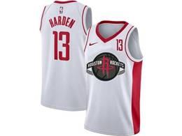 Mens Nba Houston Rockets #13 James Harden White Swingman Nike Jersey