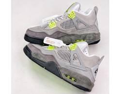 Mens Nike Air Jordan 4 Aj4 Running Shoes Gray Color