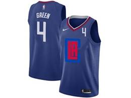 Mens Nba Los Angeles Clippers #4 Jamychal Green Blue 2020 Swingman Statement Edition Nike Jersey