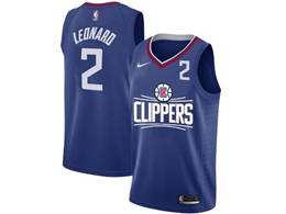 Mens Nba Los Angeles Clippers #2 Kawhi Leonard Blue Nike Jersey (white Letter On Front)
