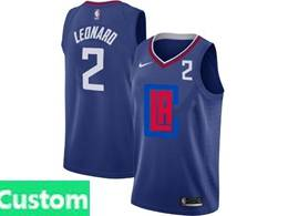 Mens Nba Nike Los Angeles Clippers Custom Made Blue 2020 Swingman Statement Edition Nike Jersey