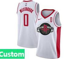 Mens Nba Houston Rockets Custom Made White Swingman Nike Jersey
