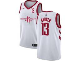 Mens Nba Houston Rockets #13 James Harden White 2020 New Swingman Nike Jersey