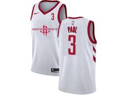 Mens Nba Houston Rockets #3 Chris Paul White 2020 New Swingman Nike Jersey