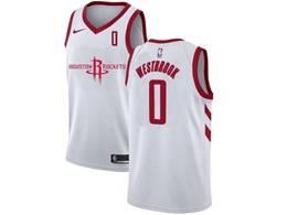 Mens Nba Houston Rockets #0 Russell Westbrook White 2020 New Swingman Nike Jersey