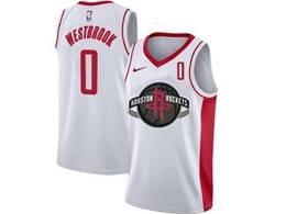 Mens Nba Houston Rockets #0 Russell Westbrook White Swingman Nike Jersey