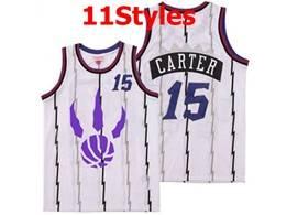 Mens Nba Toronto Raptors #15 Vince Carter White Mitchell&ness Swingman Jersey 11 Styles