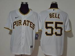 Mens Mlb Pittsburgh Pirates #55 Josh Bell White Cool Base Nike Jersey