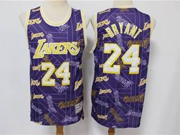 Mens Nba Los Angeles Lakers #24 Kobe Bryant Purple Printing Tear Up Pack Mitchell&ness Swingman Jersey