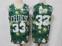 Mens Nba Boston Celtics #33 Larry Bird Green Printing Tear Up Pack Mitchell&ness Swingman Jersey