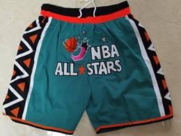 Mens Nba All Star 1996 Blue Just Don Pocket Shorts