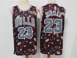 Mens Nba Chicago Bulls #23 Michael Jordan Black Printing Tear Up Pack Mitchell&ness Swingman Jersey