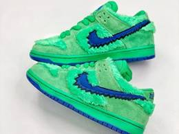 Mens And Women Grateful Dead X Nike Sb Dunk Low Yellow Bear Running Shoes Green Color