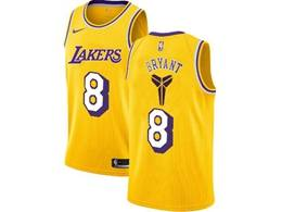 Mens Nba Los Angeles Lakers #8 Kobe Bryant Gold Special Edition 2020 Nike Jersey