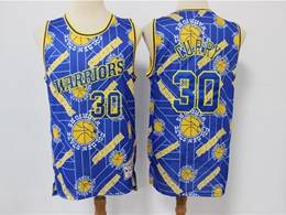 Mens Nba Golden State Warriors #30 Stephen Curry Blue Printing Tear Up Pack Mitchell&ness Swingman Jersey