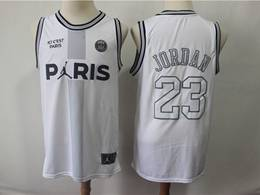 Mens Nba Chicago Bulls #23 Michael Jordan And Paris White Jointly Swingman Jersey