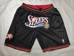Mens Nba Philadelphia 76ers 1996-97 Black Nike Just Don Pocket Shorts