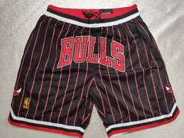 Nba Chicago Bulls Black Red Stripe 1997-98 Nike Just Do Pocket Shorts