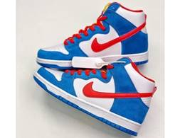 Mens And Women Nike Sb Dunk High Doraemon Running Shoes One Color
