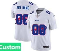 Mens Nfl Buffalo Bills Custom Made White Shadow Logo Vapor Untouchable Limited Jersey