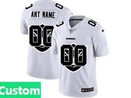 Mens Nfl Oakland Raiders Custom Made White Shadow Logo Vapor Untouchable Limited Jersey