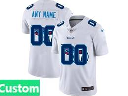 Mens Nfl Tennessee Titans Custom Made White Shadow Logo Vapor Untouchable Limited Jersey
