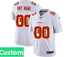 Mens Nfl Kansas City Chiefs Custom Made White Shadow Logo Vapor Untouchable Limited Jersey