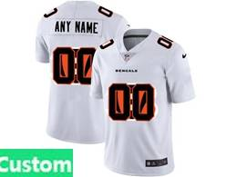 Mens Nfl Cincinnati Bengals Custom Made White Shadow Logo Vapor Untouchable Limited Jersey