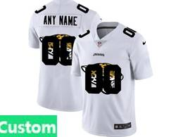 Mens Nfl Jacksonville Jaguars Custom Made White Shadow Logo Vapor Untouchable Limited Jersey
