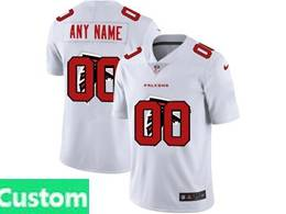 Mens Nfl Atlanta Falcons Custom Made White Shadow Logo Vapor Untouchable Limited Jersey