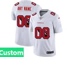 Mens Nfl Arizona Cardinals Custom Made White Shadow Logo Vapor Untouchable Limited Jersey