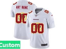 Mens Nfl Washington Redskins Custom Made White Shadow Logo Vapor Untouchable Limited Jersey