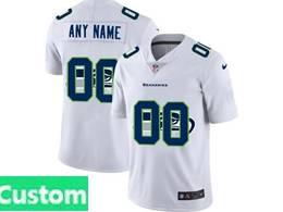Mens Nfl Seattle Seahawks Custom Made White Shadow Logo Vapor Untouchable Limited Jersey