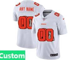 Mens Nfl Cleveland Browns Custom Made White Shadow Logo Vapor Untouchable Limited Jersey