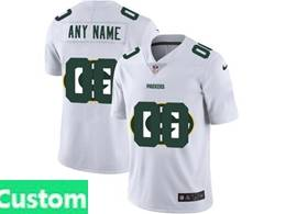 Mens Nfl Green Bay Packers Custom Made White Shadow Logo Vapor Untouchable Limited Jersey