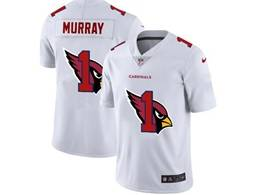 Mens Nfl Arizona Cardinals #1 Kyler Murray White Shadow Logo Vapor Untouchable Limited Jersey