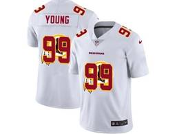 Mens Nfl Washington Redskins #99 Chase Young White Shadow Logo Vapor Untouchable Limited Jersey