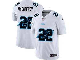 Mens Nfl Carolina Panthers #22 Christian Mccaffrey White Shadow Logo Vapor Untouchable Limited Jersey