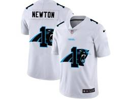 Mens Nfl Carolina Panthers #1 Cam Newton White Shadow Logo Vapor Untouchable Limited Jersey