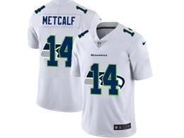 Mens Nfl Seattle Seahawks #14 Dk Metcalf White Shadow Logo Vapor Untouchable Limited Jersey