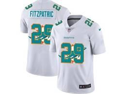 Mens Miami Dolphins #29 Minkah Fitzpatrick White Shadow Logo Vapor Untouchable Limited Jersey