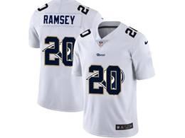 Mens Nfl Los Angeles Rams #20 Jalen Ramsey White Shadow Logo Vapor Untouchable Limited Jersey