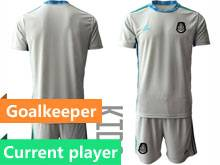 Baby 20-21 Soccer Mexico National Team Current Player Gray Goalkeeper Short Sleeve Suit Jersey