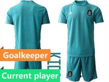 Baby 20-21 Soccer Mexico National Team Current Player Blue Goalkeeper Short Sleeve Suit Jersey