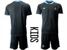 Baby 20-21 Soccer Mexico National Team ( Custom Made ) Black Goalkeeper Short Sleeve Suit Jersey